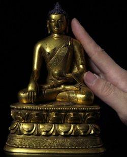 疑似清代 金銅 官造 釋迦牟尼佛造像比例尺
